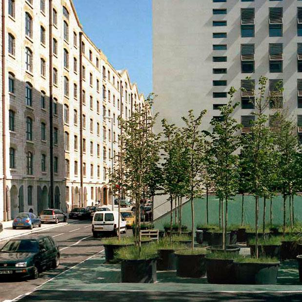 Marseille sans titre n°17, (879-09), 110x110cm FC912 série Euroméditerranée, commande publique 2002-03