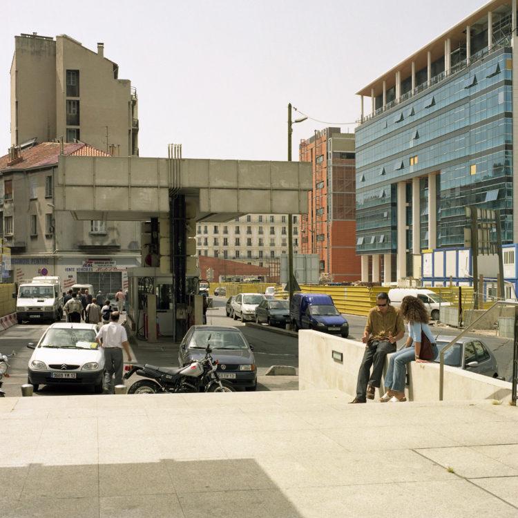 Brigitte Bauer | Euroméditerranée | 2002-2003 | Marseille sans titre n°18,  (866-07), 110x110cm FC912 série Euroméditerranée, commande publique 2002-03