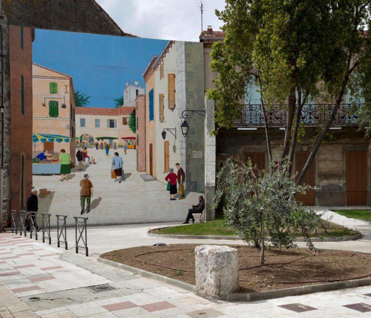 Brigitte Bauer | Aller aux jardins | 2010-2011 | Marignane, rue du Maréchal Leclerc, série Aller aux Jardins 2010-11, réalisée dans le cadre du programme Images Contemporaines/Patrimoine du CG13