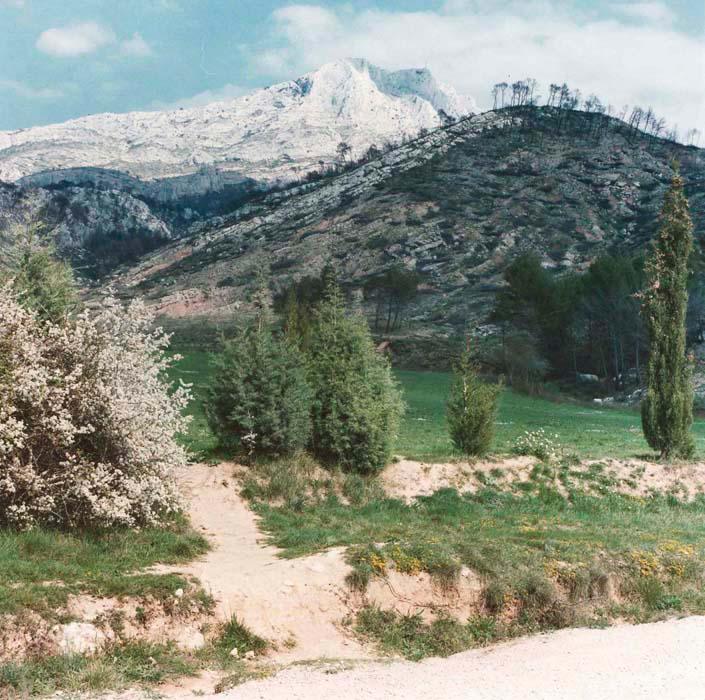 Brigitte Bauer | Montagne Sainte-Victoire | 1992-1994 | sans titre (01-11), série Montagne Sainte-Victoire 1992-94