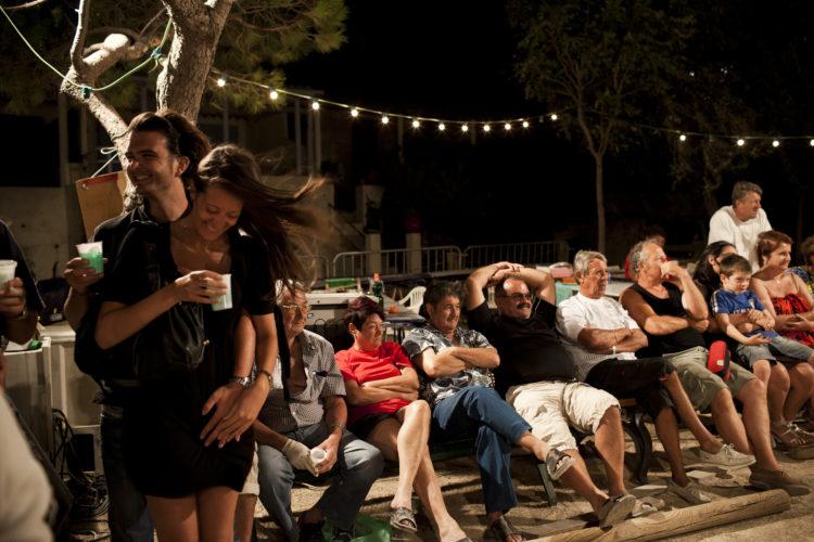 Hélène David | L'esprit des calanques | 2008-2011 | Août. Fête du 15 Août à la calnque de Morgiou.