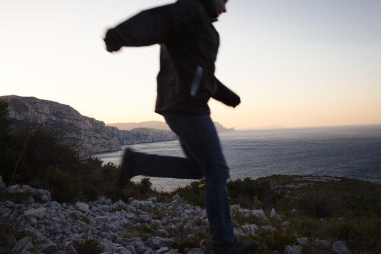 Hélène David | L'esprit des calanques | 2008-2011 | Cap Morgiou, la randonneuse.