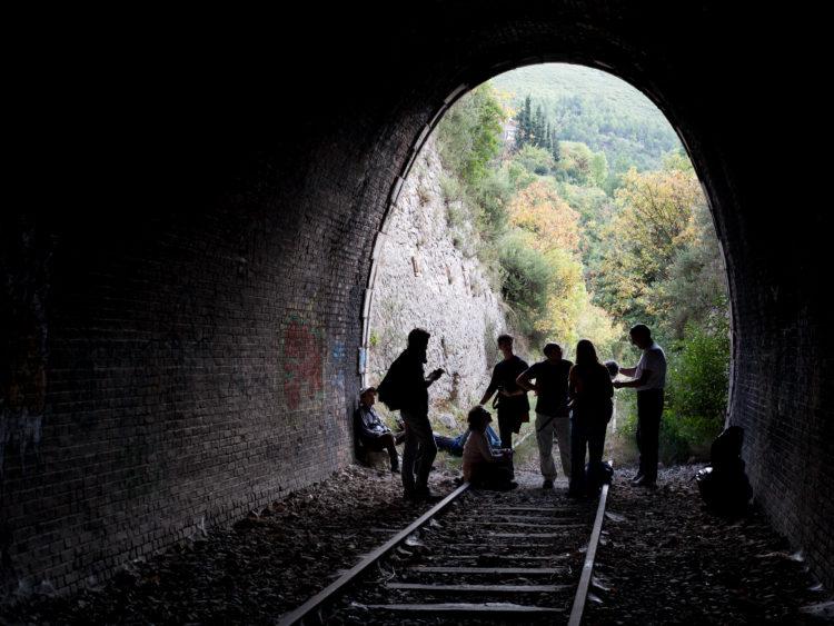 Giacomo Furlanetto | Caravan | 2013 | Sur le GR2013, étape 18 - 11 octobre 2013 - de Aubagne à La Destrousse, à travers Roquevaire et Auriol.