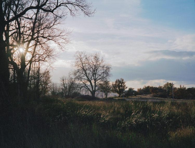 Julien Marchand | From the wasteland | 2015-2019 | nuages d'hiver, autour de la D30.