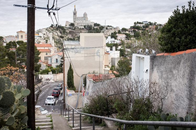 Anne Loubet | Marseille les collines | 2006-2020 | TRANCHÉE PAR LA CARRIERE DE NOTRE DAME DE LA GARDE, QUARTIER DU ROUCAS, MARSEILLE 7