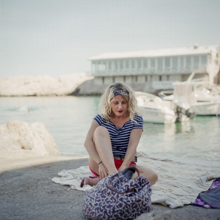 Élise Llinares | Littoral Marseille | 2017-2018 | Portrait de femme au vallon des Auffes