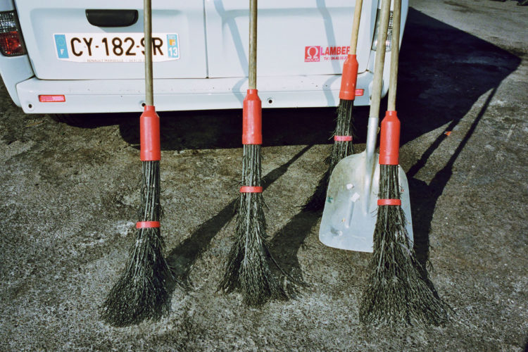 Sam Phelps   Belladone   2017-2020   Street sweeper brooms at La Plaine in Marseille, France, 2018.