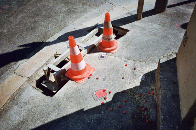 Sam Phelps   Belladone   2017-2020   Witches hats on the street at La Plaine in Marseille, France, 2018.