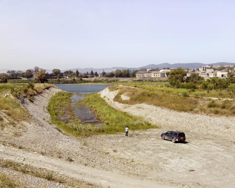 Bertrand Stofleth | Rhodanie | 2007-2015 | Rhodanie, Pont Saint-Esprit, le vieux Rhône, réhabilitation hydraulique, destruction de caisson Girardon et creusement d'une Lône