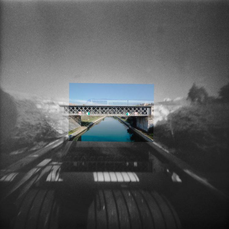 Martial Verdier | Port-de-Bouc 150 ans – Archéologie d'une poétique de Port-de-Bouc | 2014-2016 | Port-de-Bouc pont ferroviaire sur le canal d'Arles à Bouc