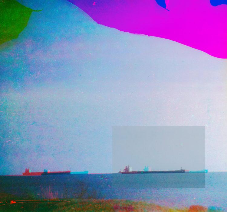 Martial Verdier | Port-de-Bouc 150 ans – Archéologie d'une poétique de Port-de-Bouc | 2014-2016 | Port-de-Bouc Golfe de Fos, la rade depuis le centre d'art.
