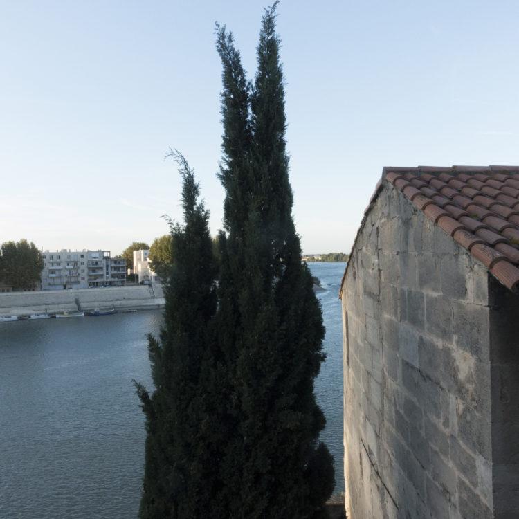 Vue sur le Rhône depuis l'Hôtel de L'Hoste, Arles