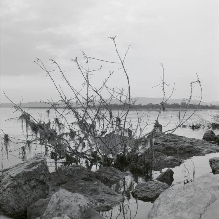 Michel Peraldi   Les temps de Berre   1985   L'étang de Berre, entre Saint-Chamas et l'arrivée du canal de Provence.